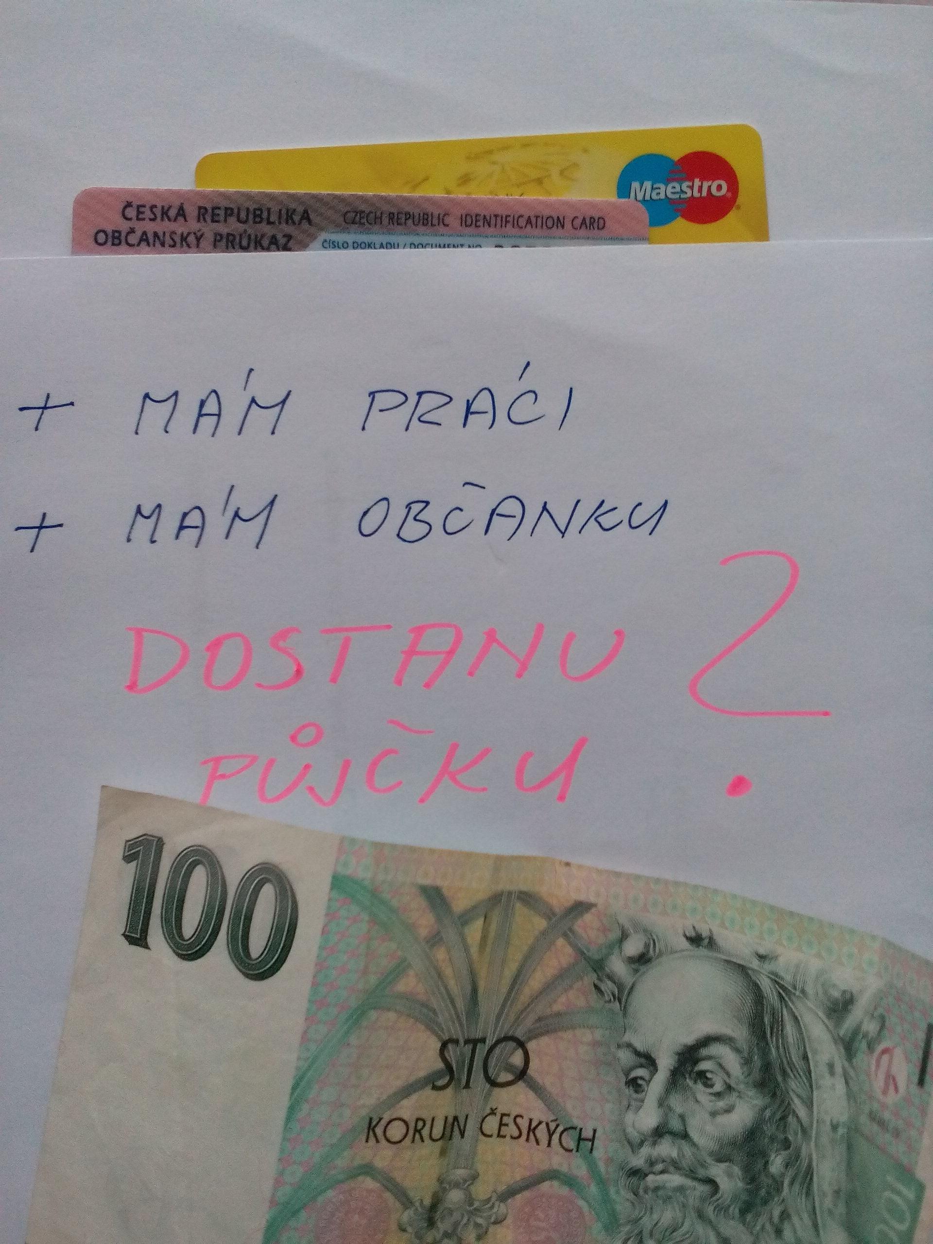 zajistím kontakt na osobu která půjčí své peníze